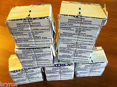 Lot of 7 Datrex Emergency Rations mre survival food bars September 2019 NEW