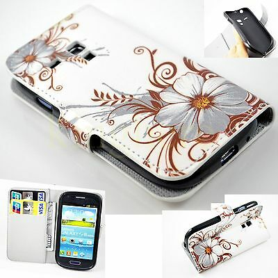 Fold Wallet Flip Leather Card Cover Case For Samsung Galaxy S3 SIII Mini i8190