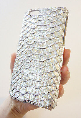 Silver Crocodile Patent Leather Phone Case Cover For Apple iPhone 6 4.7 +Film