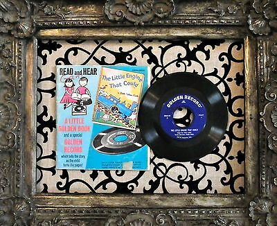 LITTLE GOLDEN BOOK+Record The LITTLE ENGINE THAT COULD  45 rpm 1960's Read+Learn