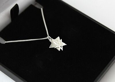 Ladies 925 Sterling Silver Double Star Necklace Personalised Engraved Gift Box