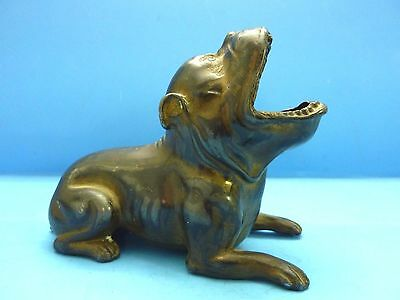 Antique JB Jennings Brothers Spelter Metal OPEN MOUTH Bulldog