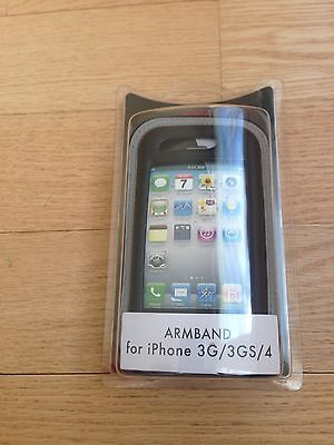 New Rocketfish Black Gray Armband Case Cover For Apple Iphone 3G 3GS 4G RF-WR448