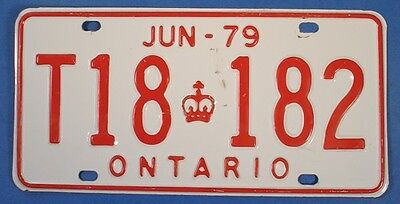 1979 ONTARIO TRAILER LICENSE PLATE #T18182                       SL3593