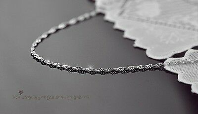 wholesale 5pcs 925 Sterling Silver 1.4mm  wave Chain Necklace 16inchesY041