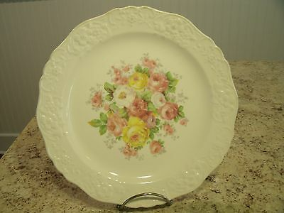 """Vintage Edwin M. Knowles Floral / Rose Pattern 9.25"""" Plate 36-10 or 38-10"""
