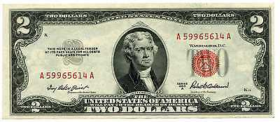 1953 A U.S. $2 Dollar Red Seal United States Note #40905