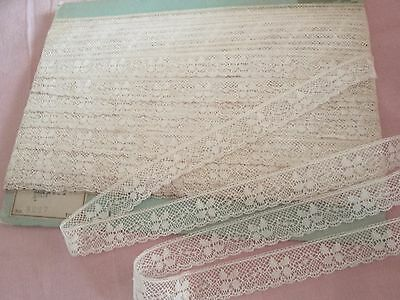 vintage old stock antique Val lace  5 yards lot