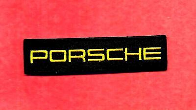 NEW 1 X 4 INCH PORSCHE IRON ON PATCH FREE SHIPPING