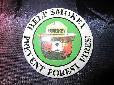 Vintage Help Smokey Prevent Forest Fires Pin Pinback Button