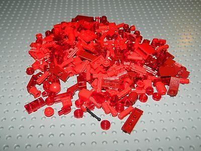 NEW LEGO Lot of Red Dark Red Trans Red Plates Slopes Technic 1x1 1x2 1x3 9B