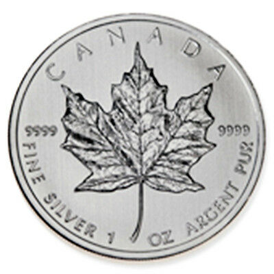 2012 Canadian Maple 1 oz .9999 Fine Silver Coin