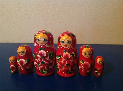 Russian Nesting Dolls 6 pieces!! Great Gift for Girls!!