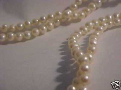 Pearl Necklace Lusterous 36 INCH Strand 5 MM Pearl (109