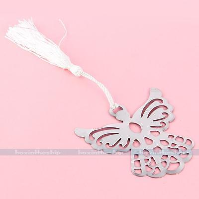 1x Silver Metal Angel Eagle Memo Stationery Bookmark Note Ribbon Box Gift
