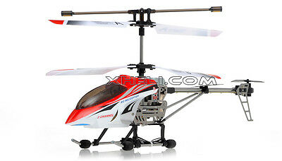 JXD 333 Metal 3 Ch RC Remote Control Helicopter Rtf BUILT IN GYROSCOPE New RED