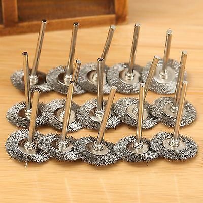 20Pcs 25mm Stainless Steel Wire Wheel Brush Cup For Dremel Grinder Rotary Tools