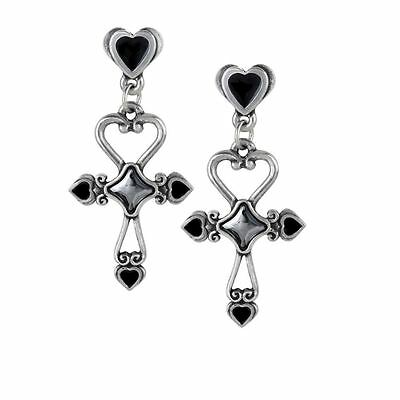 Alchemy Gothic Amourankh Pewter Pair of Earrings BRAND NEW