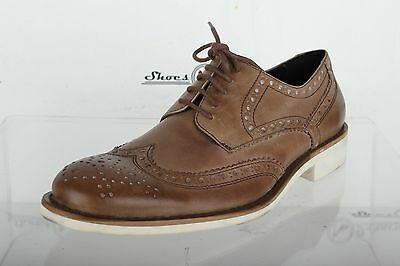 Mens KENNETH COLE stylish brown / taupe leather oxfords shoes sz. 9 M NEW!