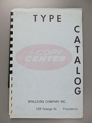 Type Specimen Booklet from Spaulding Company, Inc., Providence, Rhode Island