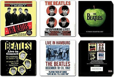 The Beatles - 1962 Anniversary - 4 Piece Coaster Set