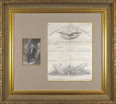 ABRAHAM LINCOLN JSA CERTIFIED SIGNED 1861 APPOINTMENT AUTOGRAPH AUTHENTIC