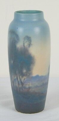 Fred Rothenbusch Rookwood Pottery Scenic Vellum Arts & Crafts Vase 1919