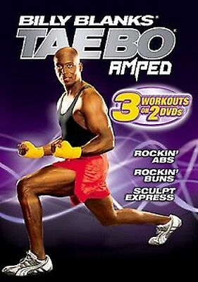 Billy Blanks TAEBO AMPED Rockin' Abs Buns Sculpt Express DVD SET workouts tae bo