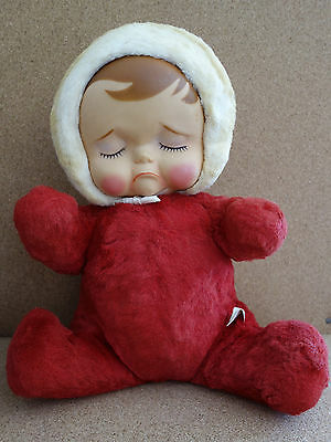 Vtg- 1950's Pouting Animals Knickerbocker Toy Co Plush Red Baby (charity)