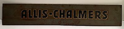 Vintage Allis-Chalmers Metal Sign ~ 30 1/5 Inches by 5 1/4 Inches