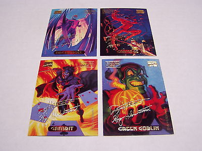 Marvel Masterpieces 1994 Trading Cards Gold Signature Series Lot (66 Different)