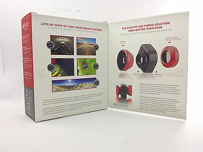 B60 Olloclip 4-in-1 Macro/Fisheye/Wide Angle Lens Solution iPhone 4/4s Red/Black