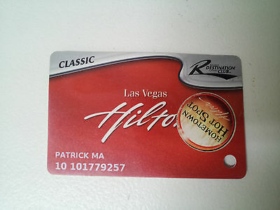 HILTON Las Vegas Casino SLOT CARD Players Card Resorts Destination Club Classic