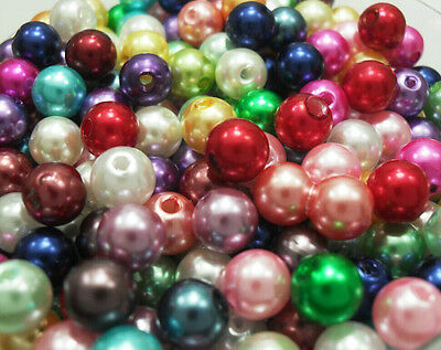 60pcs color mixing acrylic faux pearl Interval beads charms Findings 8mm P37