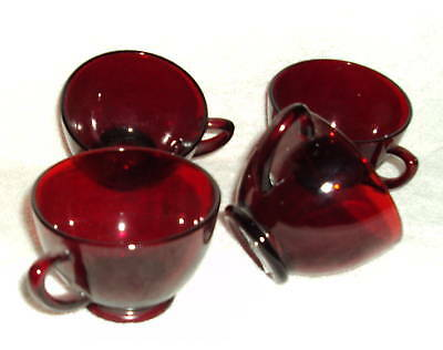 Four Red Punch Cups Nice for any Party!