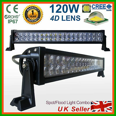 LED Light Bar 120W Spot Flood Work Lamp 4x4 SUV Recovery PICKUP Truck Lorry Van