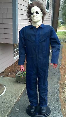 VERY RARE* Gemmy RETIRED Halloween Life Size Animated H2O Michael Myers Prop