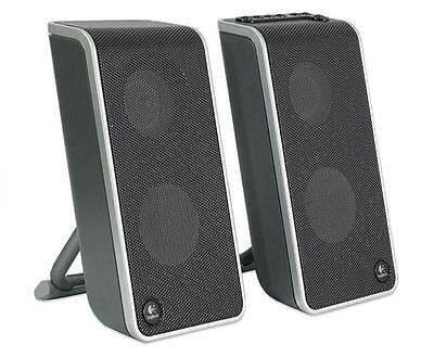 Logitech V20 Notebook Speakers , USB, With Case, Plug & Play