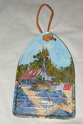 HAND PAINTED COUTRY SCENE DECOR PIECE~ VERY PRETTY!