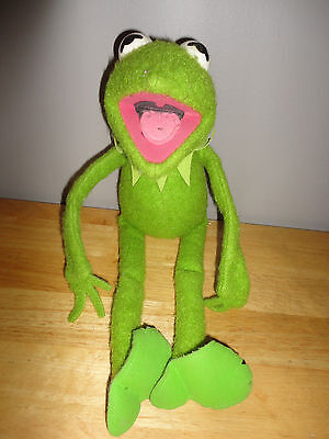 "Vintage 1976 KERMIT THE FROG 18"" Plush from FISHER PRICE #850 Jim Henson Muppets"