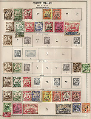 156 GERMANY - GERMAN COLONIES , P O ABROAD , OCCUPATION ISSUES , FORMER STATES