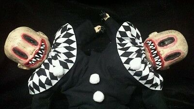 Zombie Baby Doll Mutated Clowns Conjoined Twins Halloween Haunted House Prop