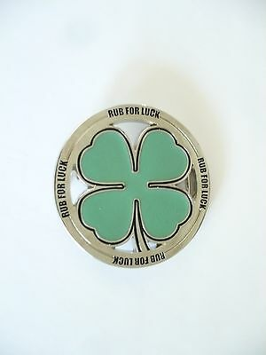 St. Patrick's Day/Any Irish Lucky Day. Rub for Luck Belt Buckle. Green Shamrock