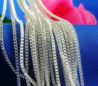 wholesale 5pcs 925 Sterling Silver 1.4mm Box Chain Necklace 24inchesY013