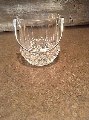 Durand Cristal Longchamp d'Arques Crystal Ice Bucket with Handle - UNIQUE