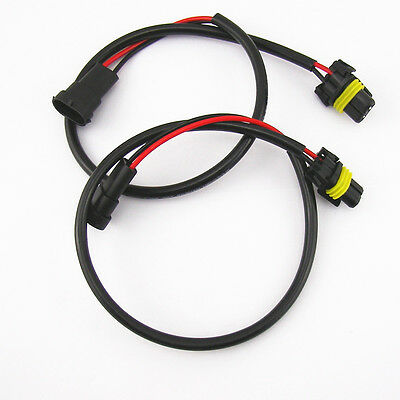 2 Pcs H11 H8 H9 Wire Harness HID ballast to Stock Socket For HID Conversion Kit