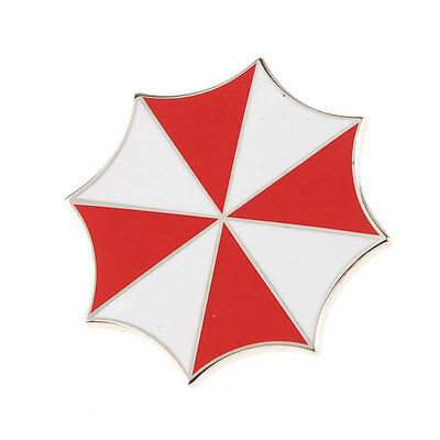 RESIDENT EVIL UMBRELLA CORPORATION EMBROIDERED LOGO METAL BADGE PIN-33611
