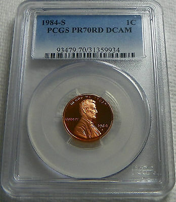 1984-S Proof Lincoln Cent Penny  PCGS PR70RD DCAM