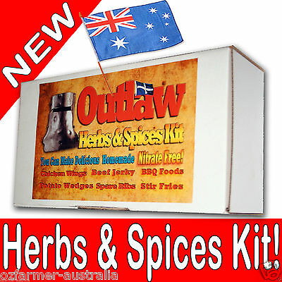 Jerky Spices and Herbs Kit 10 Flavours Great Chicken Wings Beef Jerky Wedges