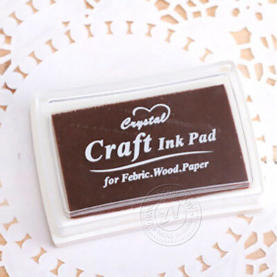1Pcs Fashion Accessories Craft Oil Based Ink Pad For Fabric Wood Paper Color 14